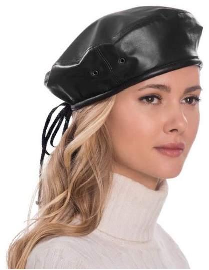 84f20a5b264b9 Leather Beret - ShopStyle
