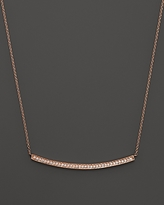 Sylvie Dana Rebecca Designs 14K Rose Gold Diamond Rose Long Necklace, 17