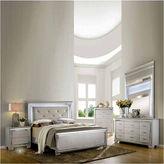Asstd National Brand Priya Silver Faux-Crocodile Textured Bed