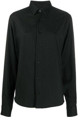 AMI Paris Buttoned Long-Sleeved Shirt