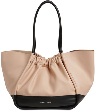Proenza Schouler Xl Two Tone Smooth Leather Tote Bag