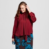 Women's Plus Size Trapeze Bow Blouse-Who What Wear
