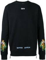 Off-White tiger embroidered sweatshirt - men - Cotton/Polyamide/Polyester/Viscose - XS