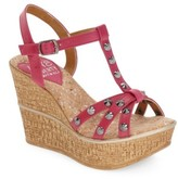 Women's Love And Liberty 'Violet' Spiked T-Strap Wedge Sandal