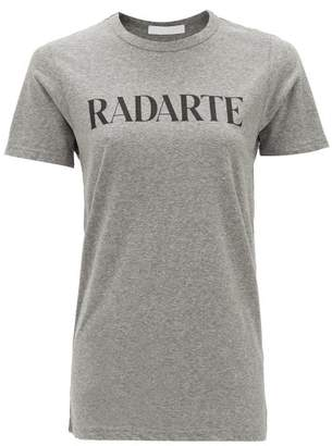 Rodarte Logo-print T-shirt - Womens - Grey