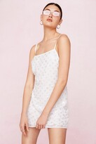 Thumbnail for your product : Nasty Gal Womens Bridal Beaded Low Back Mini Dress - White - 12