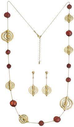 Linea By Louis Dell'olio by Louis Dell'Olio Spiral Station Necklace & Earring Set