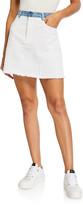 Ksenia Schnaider Denim Mini Skirt with Reworked Pockets