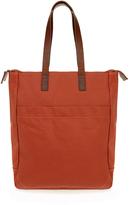 Ally Capellino Luke Orange Canvas Tote Bag