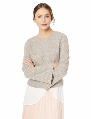 BCBGeneration Women's Two FER Flare Sleeve Knit TOP