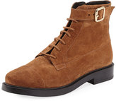 Tod's Lace-Up Suede Combat Boot, Brown