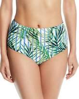 Red Carter Palm Party High-Waist Swim Bikini Bottoms