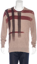 Burberry Cashmere-Blend Check Sweater