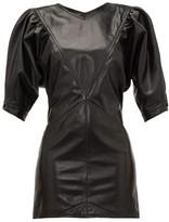 Isabel Marant Xadela Leather Mini Dress - Womens - Black