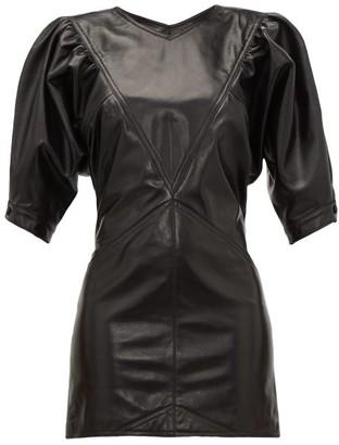 Isabel Marant Xadela Leather Mini Dress - Black