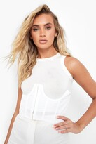Thumbnail for your product : boohoo Structured Cup Detail Corset Belt