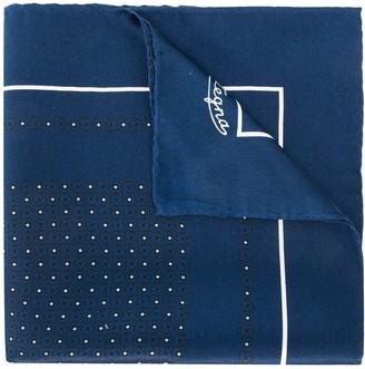 Ermenegildo Zegna Dotted Pocket Silk Scarf