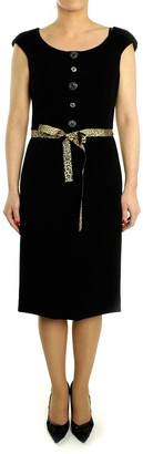 Oky Coky OKY COKY - Black Viscose and Polyester Dress - 38 - Gold/Black