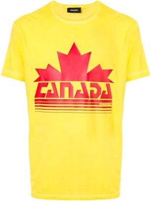 DSQUARED2 printed Canada leaf T-shirt