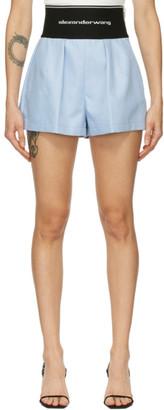 Alexander Wang Blue Logo Elastic Safari Shorts