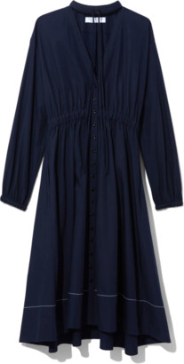 Proenza Schouler Cotton Shirting Shirt Dress in Midnight