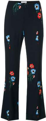 Sonia Rykiel floral print flared trousers