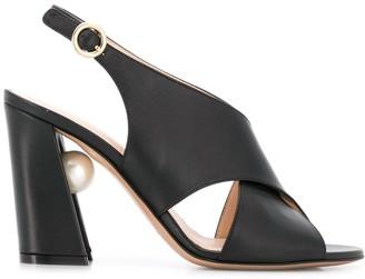 Nicholas Kirkwood MIRI cross sandals 90mm
