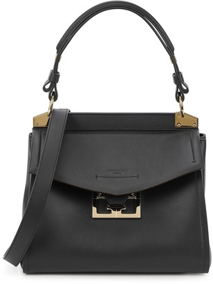 Givenchy Mystic small black leather top handle bag