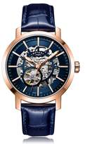 Rotary Watches Rotary Mens Rose Gold Pvd Greenwich Skeleton