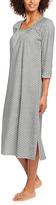 Hanes Gray Foulard Side-Slit Sleep Dress