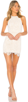 superdown Patty High Neck Crochet Dress