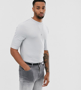 Asos Design DESIGN Tall organic smart slim fit t-shirt in grey