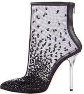 Oscar de la Renta Embellished Ankle Boots