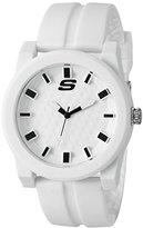 Skechers Men's 'The Carver' Quartz Plastic and Silicone Casual Watch, Color:White (Model: SR5066)