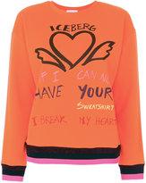 Iceberg heart embroidered sweatshirt