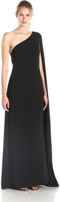 Jill Stuart Jill Women's One Shoulder Cape Gown
