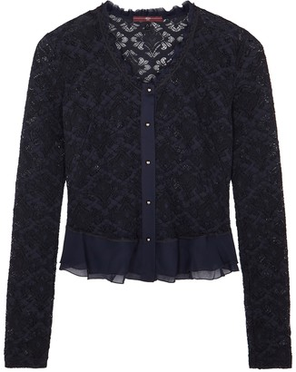 High Imagine Navy Stretch-lace Cardigan