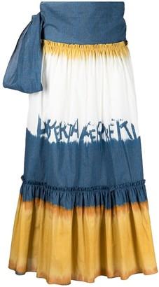 Alberta Ferretti Bow Detail Logo Skirt