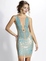 Baccio Couture - Wings - 3167 Mesh Painted Short Dress