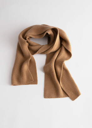 And other stories Cashmere Ribbed Knit Scarf