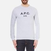 A.P.C. Men's US Sweatshirt Gris Clair Chine