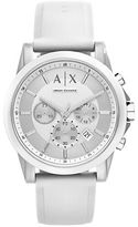 Armani Exchange AX1325 Polished Nylon and Silicone Watch