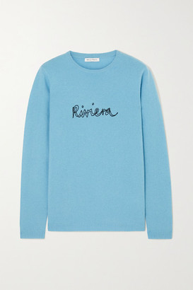 Bella Freud Riviera Embroidered Cashmere Sweater - Blue
