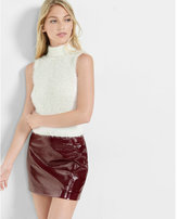 Express Fuzzy Sleeveless Turtleneck Sweater
