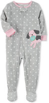 Carter's 1-Pc. Dot-Print Dog Footed Pajamas, Toddler Girls (2T-5T)