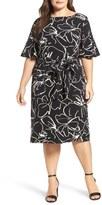 Gabby Skye Print Shift Dress