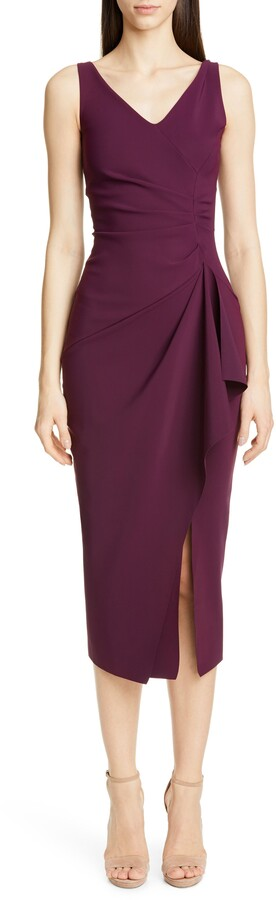 Chiara Boni Kloty Ruched Midi Dress