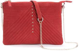 La Redoute Collections Quilted Leather Chain Strap Clutch Bag