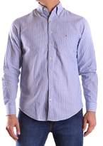 Gant Men's Light Blue/white Cotton Shirt.