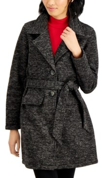 Madden-Girl Juniors' Belted Walker Coat